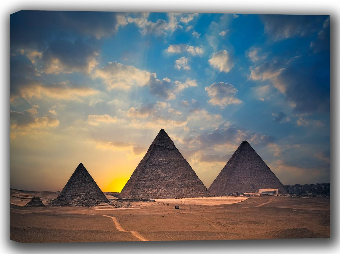 The Pyramids of Egypt. Landscape Canvas. Sizes: A4/A3/A2/A1 (002279)